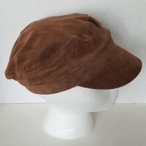 0233023d104c0 Nine West Cap Womens Hat Faux Suede New. M 5bb37476fe51511f92bef90d